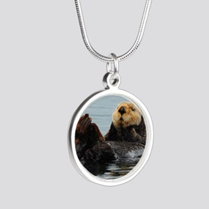 MP_Otter_12 Silver Round Necklace