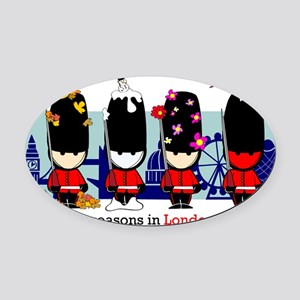 londonguards Oval Car Magnet