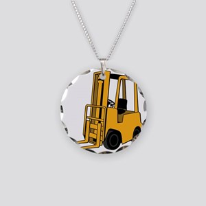 Forklift Necklace Circle Charm
