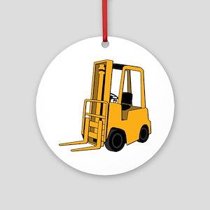 Forklift Round Ornament