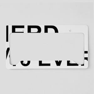 Nerd 4ever License Plate Holder