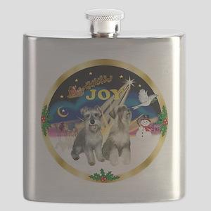 JoyWreath-2Schnauzers Flask