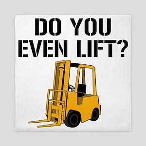 Do You Even Lift Forklift Queen Duvet