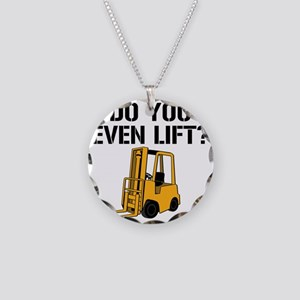 Do You Even Lift Forklift Necklace Circle Charm
