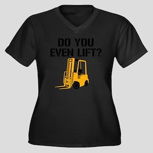 Do You Even  Women's Plus Size Dark V-Neck T-Shirt