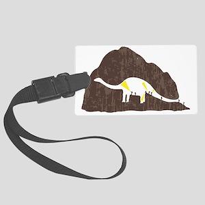 Dinosaur Humor Large Luggage Tag