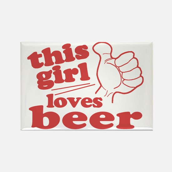 This Girl Loves Beer Rectangle Magnet
