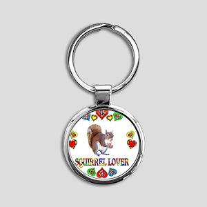 Squirrel Lover Round Keychain