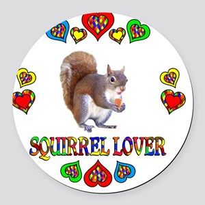 Squirrel Lover Round Car Magnet