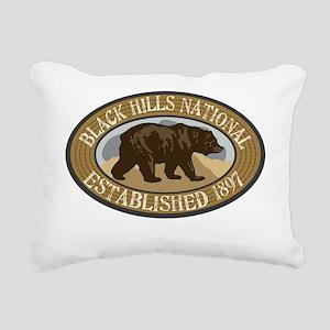 Black Hills Brown Bear B Rectangular Canvas Pillow