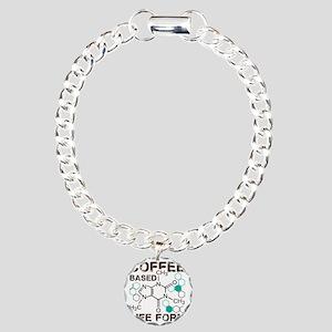 Coffee based life form Charm Bracelet, One Charm