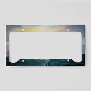 Sunset Over the Dunes License Plate Holder