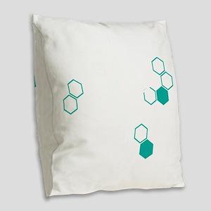 Coffee based life form Burlap Throw Pillow