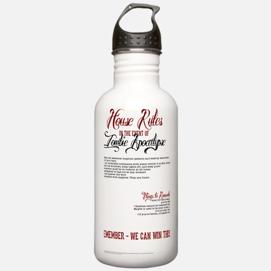 Zombie Apocalypse Hous Water Bottle