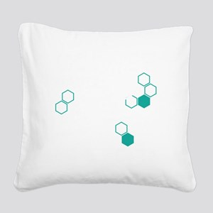 Coffee based life form Square Canvas Pillow