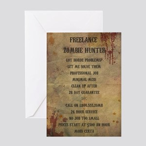 Zombie Rules Greeting Cards Cafepress