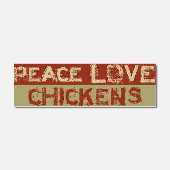 Unique Love peace Car Magnet 10 x 3