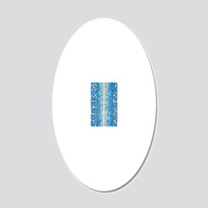 Blue Snake Skin 20x12 Oval Wall Decal