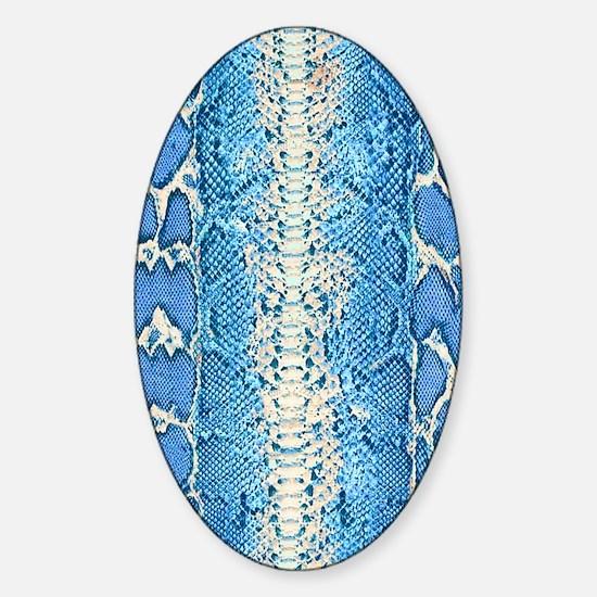 Blue Snake Skin Sticker (Oval)
