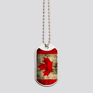 Flag of Canada Distressed Grunge Dog Tags