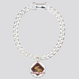 Estes Park Pop-Moose Pat Charm Bracelet, One Charm