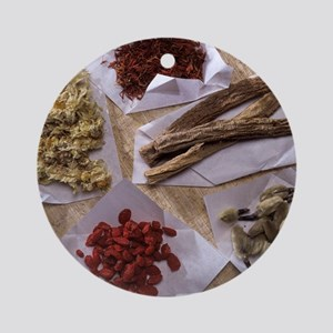 Traditional Chinese medicines Round Ornament