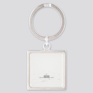 Muzzleloader Square Keychain
