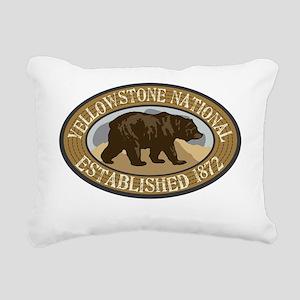 Yellowstone Brown Bear B Rectangular Canvas Pillow
