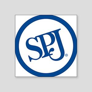 "SPJ Circle Square Sticker 3"" x 3"""