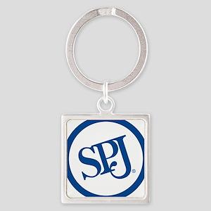 SPJ Circle Square Keychain