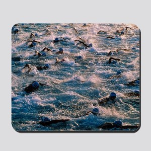 Triathlon swimmers Mousepad