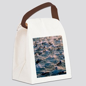 Triathlon swimmers Canvas Lunch Bag