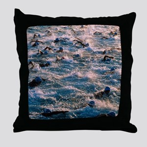 Triathlon swimmers Throw Pillow