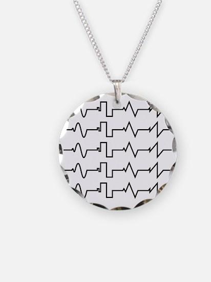HeartzBeat EKG [BLACK] Necklace