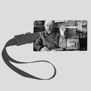 Tsiolkovsky with his ear trumpet Large Luggage Tag