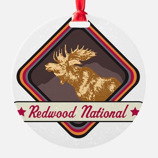 Redwood Pop-Moose Patch Ornament