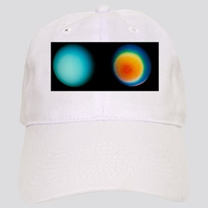 Two Voyager 2 images of the planet Uranus Cap