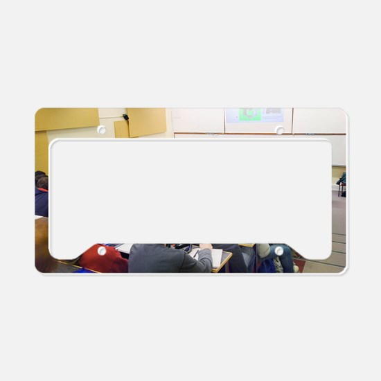 University lecture License Plate Holder