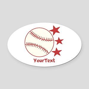 CUSTOMIZE Baseball Oval Car Magnet