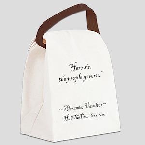 Alexander Hamilton: Here sir... Canvas Lunch Bag