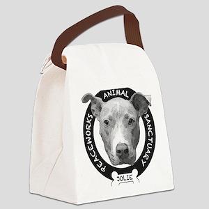 Jolies Peaceworks Logo Canvas Lunch Bag