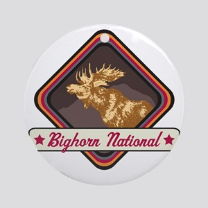 Bighorn Pop-Moose Patch Round Ornament