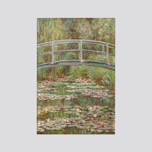 Monet Bridge over a pond of Water Rectangle Magnet