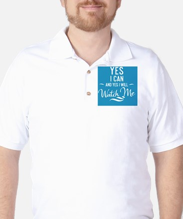 greeting card Yes I can and Yes I will  Golf Shirt