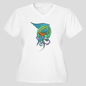 Celtic Dragon 1 Women's Plus Size V-Neck T-Shirt