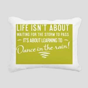 greeting card Life isnt  Rectangular Canvas Pillow