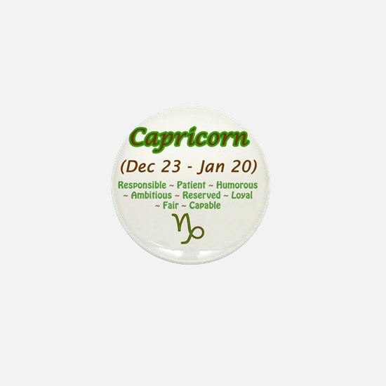 Capricorn Description Mini Button