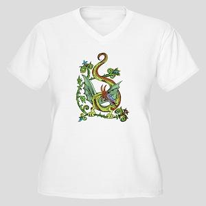Celtic Dragon 2 Women's Plus Size V-Neck T-Shirt