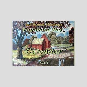 Vagabond Boy Calendar Cover 5'x7'Area Rug