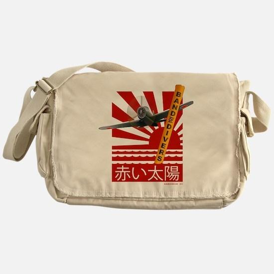 Scuba Red Sun Messenger Bag